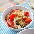 ささみとトマトのめかぶ和え|レシピ・作り方
