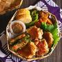 #086 (火)豚肉と豆腐のかば焼き弁当