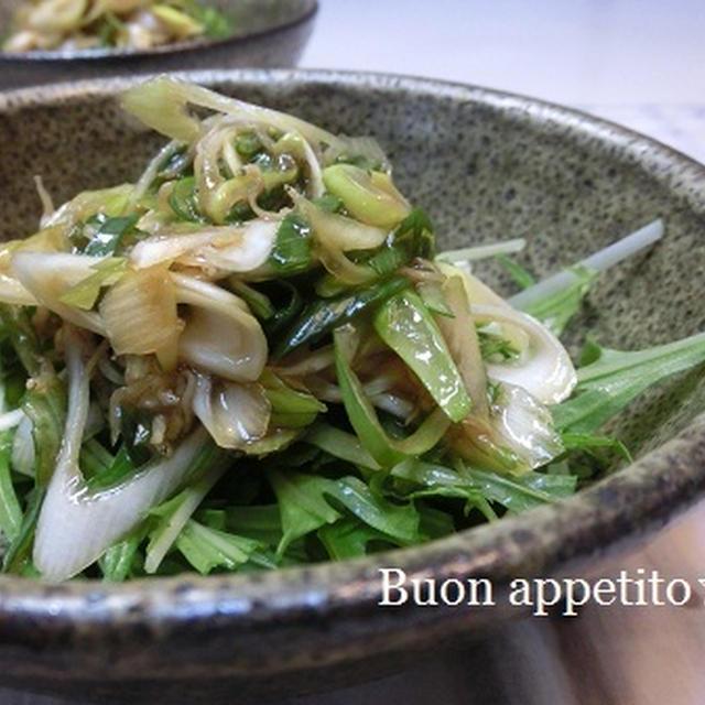 ねぎとじゃこと水菜のサラダ