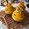 ハロウィンに☆ かぼちゃ&チーズクリームのモンブラン・マフィン♪ by カシュカシュさん