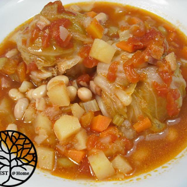 豆まめのロール白菜とリンゴジャム