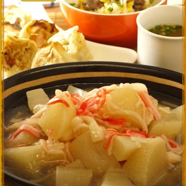 大根とカニカマの中華風煮
