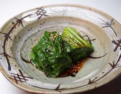 【あそれい精進料理レシピ】高菜のお浸し