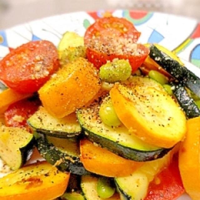 彩り夏野菜のシンプルガーリックソテー