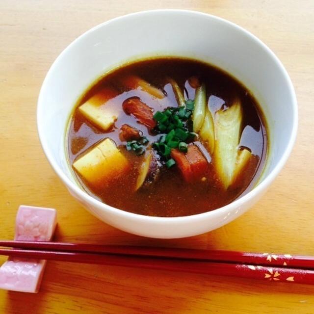 和風カレースープ☆余ったカレーを有効活用