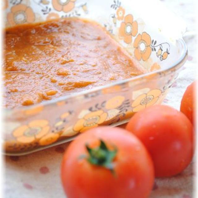 自家製トマトソースを楽しむ*