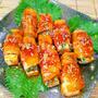 豆腐のピリ辛豚バラ肉巻き