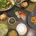 昨晩は和食・・炊飯釜で色鮮やかにそら豆ご飯など~♪♪