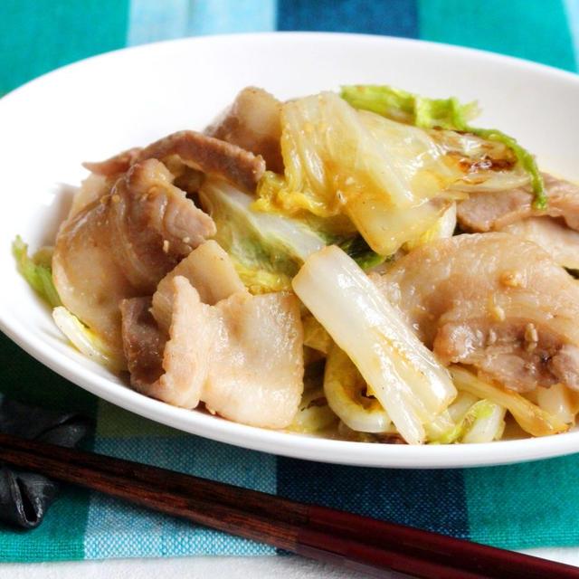 白菜と豚バラのシャキシャキうま味噌炒め。10分で完成!白菜消費におすすめ。