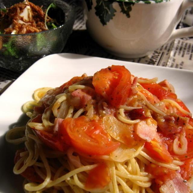 たっぷりトマトのスパゲティ
