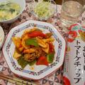 豚肉と破竹のケチャップ炒め物