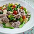菜の花の豚しゃぶ風サラダ