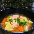 鮭とジャガイモのみそ汁と日本物産展
