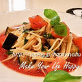 クックパッドでトップ10入り「トマト&なす☆冷製パスタ」&ポチ続き by Jacarandaさん