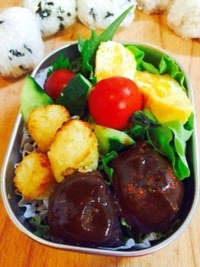 <4>お弁当用!簡単ピリ辛ハンバーグソース/大人味
