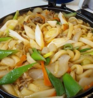 酸っぱくなった白菜の漬物で作る「うどん鍋」