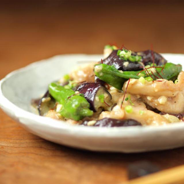 茄子と鶏肉の味噌炒め