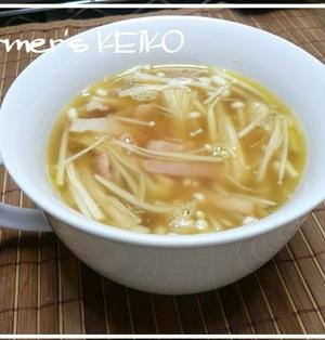 【農家のレシピ】冷凍エノキのコク旨スープ  ~冷凍エノキは旨味UP!~