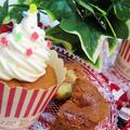 [♥クリスマスに♥]HMで簡単*バター不使用ココアバナナのカップケーキ