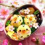 キイロイトリさんのお花見会【キャラ弁】/ヨーグルト酵母パン種