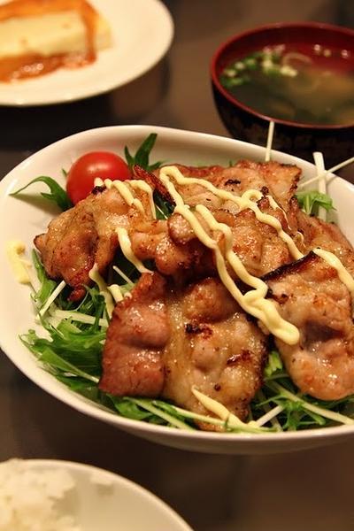 豚と水菜のサラダ仕立て