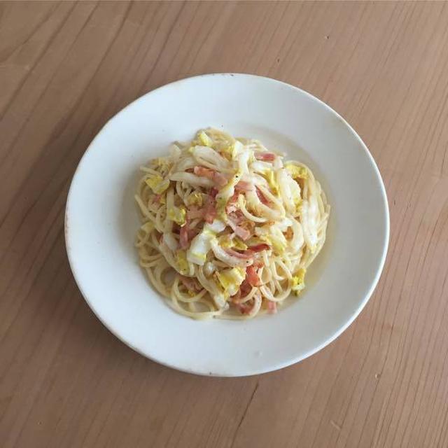 白菜とベーコンのスパゲッティ