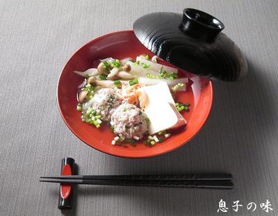 つみれと根菜のいしる煮