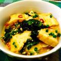 小松菜と厚揚げの挽肉麻婆