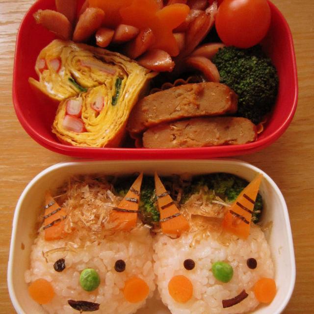 1月29日のお弁当「小鬼2匹弁当」