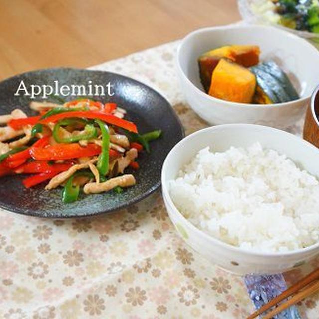 ◆ピーマンの大量消費に◆鶏胸肉の青椒肉絲(チンジャオロースー)定食