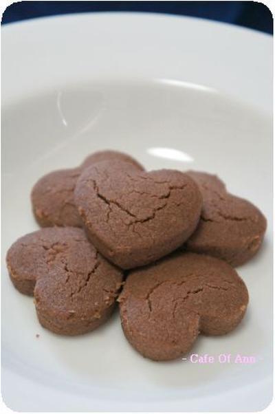 材料2つのチョコクッキー