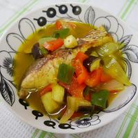 鯛と夏野菜のスープ