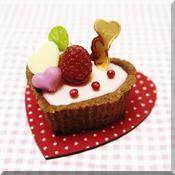 * バレンタイン ? ハートのピンク・チーズケーキ♪