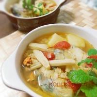 海の幸の具だくさん春色スープ(レシピあり)