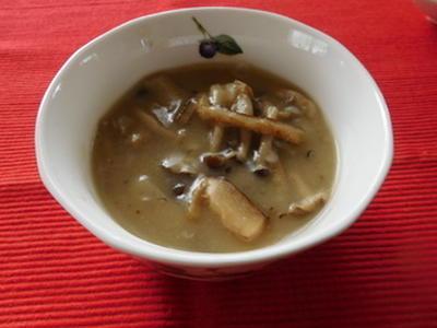 きのことごぼうの米粉スープ