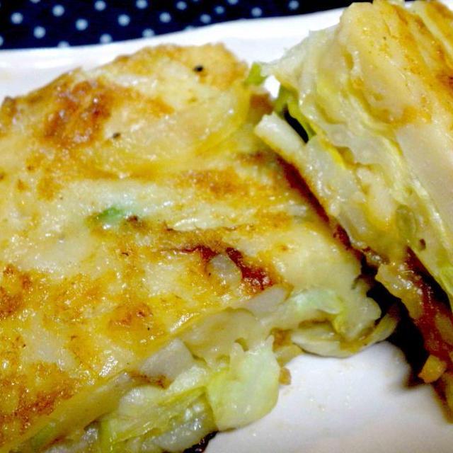 【レシピ】 (リメイク)お好み焼き ⇒ お好みポテトサンド(^^♪