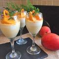 レッスンのおやつに・・ちょっとリッチにマンゴーの三層ヨーグルトケーキ~♪♪