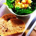 パリパリ鶏皮とポテトと林檎のサラダ