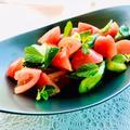 トマトときゅうりとミントの昆布茶サラダ