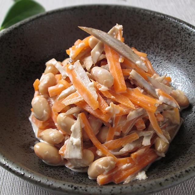 塩麹のごぼうサラダ