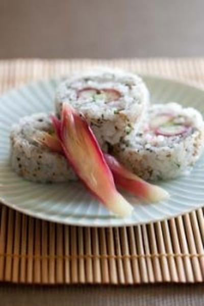 みょうがの巻き寿司