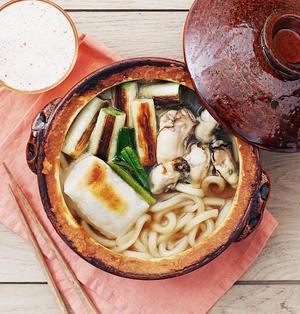 【簡単レシピ】すぐに作れる牡蠣の土手鍋味噌うどん!