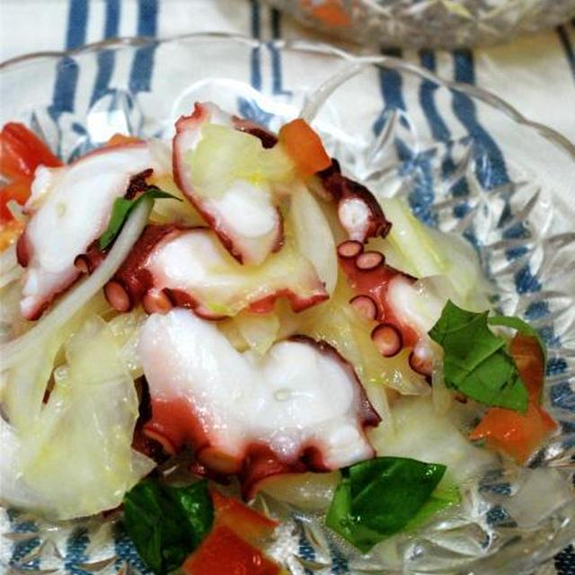 タコとセロリの冷たいサラダ