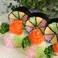 春色の花手まり寿司*おひな祭りやお花見に
