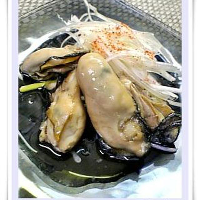 牡蠣のごま油漬け