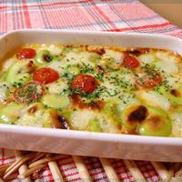 そら豆とトマトの豆乳チーズキッシュ