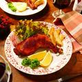 クリスマスや年越し、年始のお祝いなどの年末年始のイベントのパーティーや集まりなどにぴったり!!包丁やまな板など不要☆スパイスと調味料に漬けた後はオーブンで焼くだけで、調理工程のとんどほったらかしなのでとっても簡単お手軽♪「オールスパイスが華やかに香る★ローストチキン」【レシピ 1794】【スパイス大使】