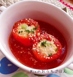トマトカップでフワフワ茶碗蒸し