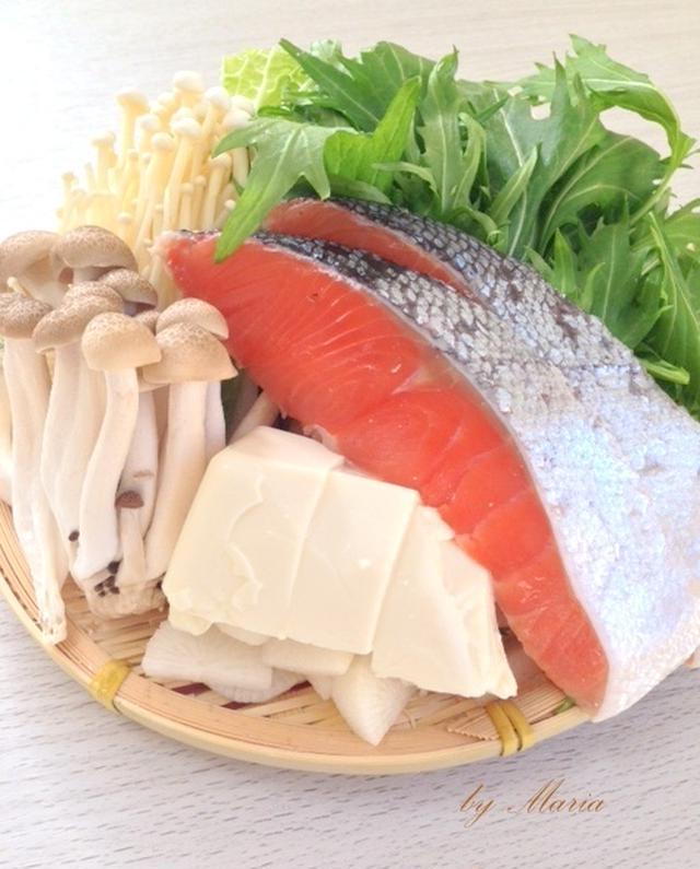 基本の鮭鍋「石狩鍋」のレシピ