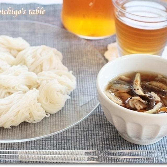 母の味♪温かいつけ汁で食べる素麺